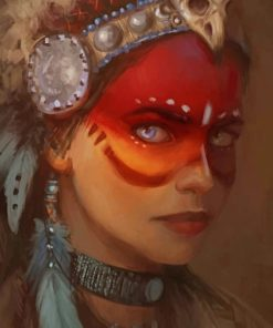 Native American Lady Paint by numbers