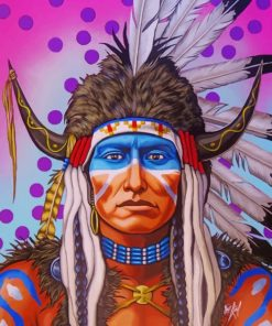 Native American Man paint by numbers