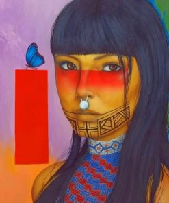 Native Woman Paint by numbers