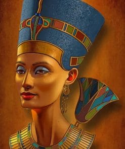 Nefertiti Egyptian Queen paint by numbers