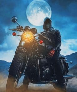 Night Biker paint by numbers