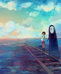No Face And Chihiro paint by numbers