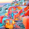Oia Village Santorini paint by numbers