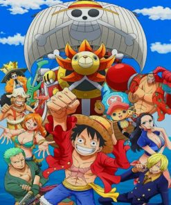 One Piece Manga Series paint by numbers