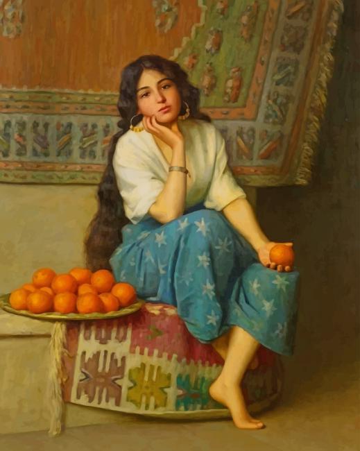 Orange Seller Paint by numbers