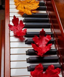 Piano And Leaves paint by numbers