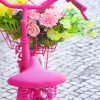 Pink Bike Flowers paint by numbers