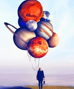 Planet Balloons paint by numbers