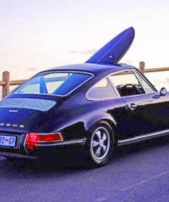 Black Porsche 911 Paint by numbers