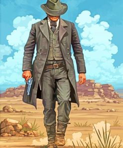 Red dead Redemption Two Gunslinger paint by numbers