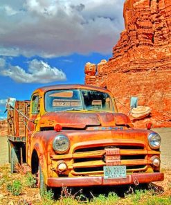 Red Rocks And Truck Paint by numbers