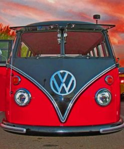 Red Volkswagen Paint by numbers