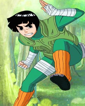 Rock Lee paint by numbers