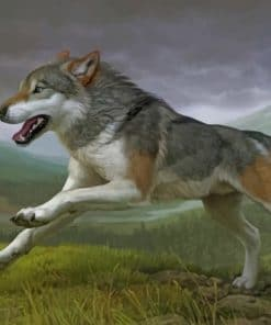 Running Wolf Paint by numbers