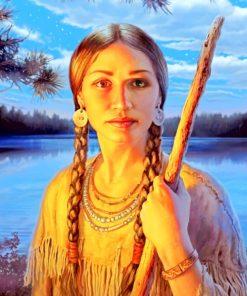 Sacagawea Art paint by numbers