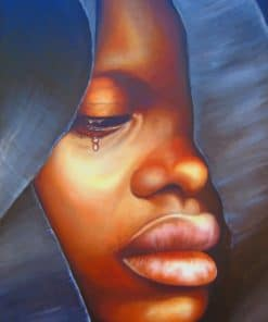 Sad African Girl paint by numbers