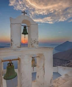 Santorini By Sunrise paint by numbers