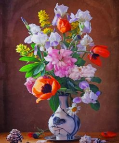 Sea Shell And Flowers Paint by numbers