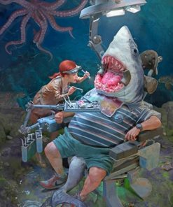 Shark In The Dentist paint by numbers