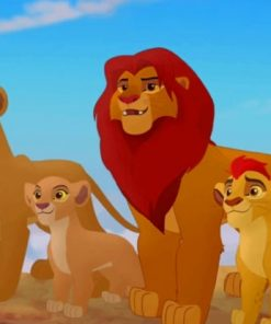 Simba And Children paint by numbers