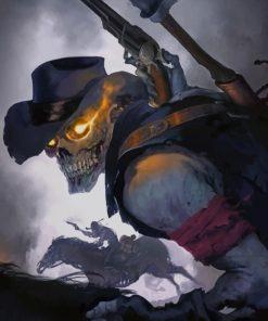 Skeletal Cowboy Paint by numbers