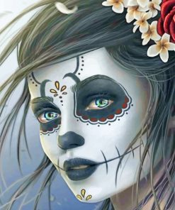Skull Candy Girl paint by numbers