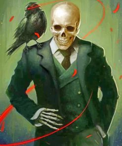 Skull Wearing A Suit Paint by numbers