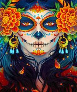 Skull Woman Paint by numbers