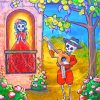 Skulls Folk Art Paint by numbers