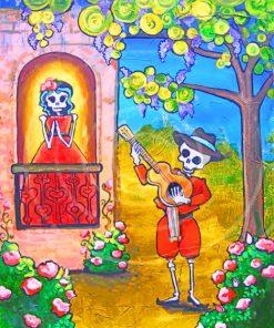 Skulls Folk Art Paint by numbers
