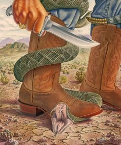 Stepping On A Snake paint by numbers