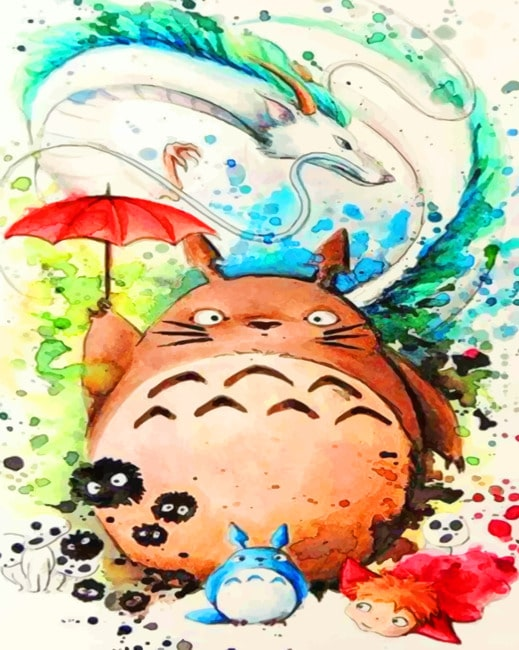 Studio Ghibli Squad paint by numbers