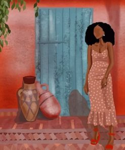 Stylish African Lady paint by numbers