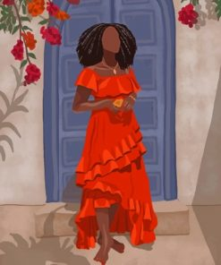 Stylish African Woman paint by numbers