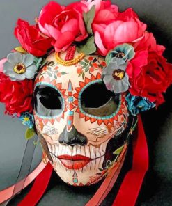 Sugar Skull Mask paint by numbers