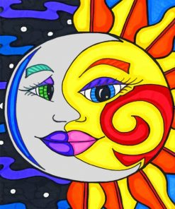 Sun And Moon Paint by numbers