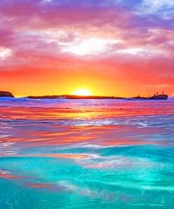 Sunset By The Ocean paint by numbers