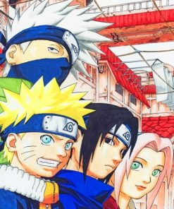 Team Minato And Team Kakashi paint by numbers