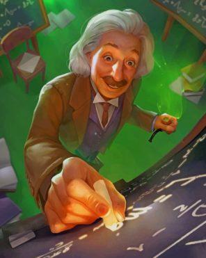 The Brilliant Albert Einstein Paint by numbers