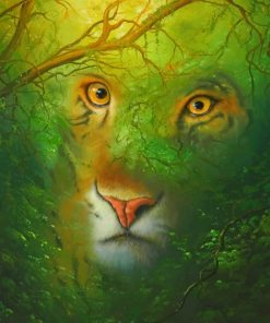 Tiger Eyes Nature Paint by numbers