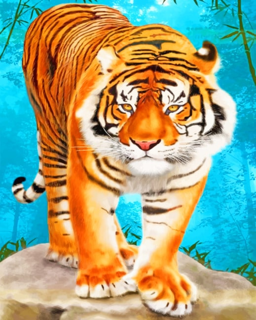 Aesthetic Tiger paint by numbers
