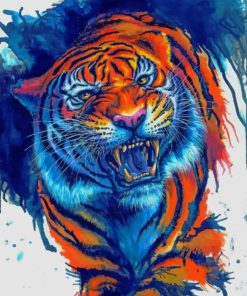 Tiger Roaring Paint by numbers