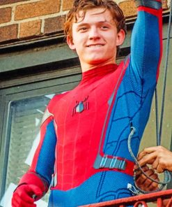 Tom Holland Spider Man Paint by numbers