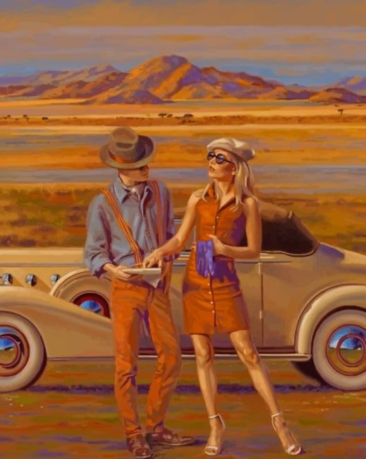 Travelers Couple Paint by numbers