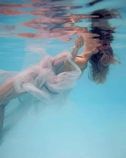 Underwater Lady Paint by numbers