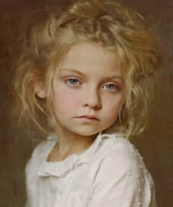 Vintage Blond Girl paint by numbers