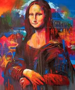 Vintage Colorful Mona Lisa paint by numbers
