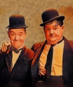 Vintage Laurel And Hardy Paint by numbers
