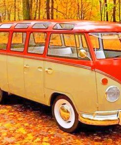 Orange Volkswagen Paint by numbers