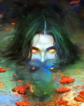 Water Mythic Monster paint by numbers